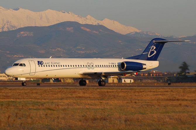 F-GNLG Fokker 100 11363 Blue Line