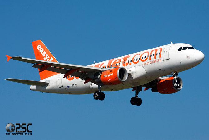 Airbus A319 - MSN 2765 - G-EZAN  Airline EasyJet @ Aeroporto di Verona © Piti Spotter Club Verona