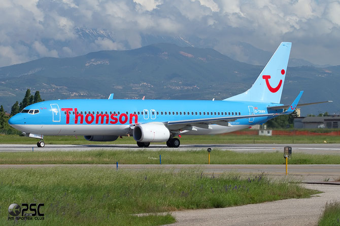Boeing 737 Next Gen - MSN 38107 - G-TAWH @ Aeroporto di Verona © Piti Spotter Club Verona