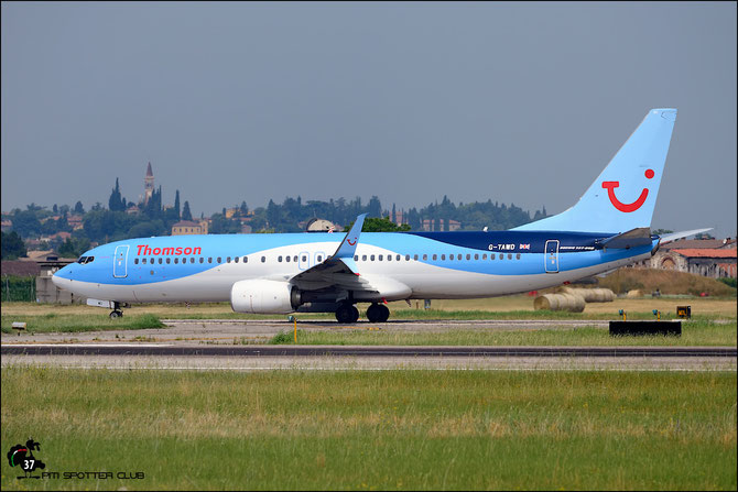 G-TAWD B737-8K5 37265/3939 Thomson Airways @ Aeroporto di Verona © Piti Spotter Club Verona