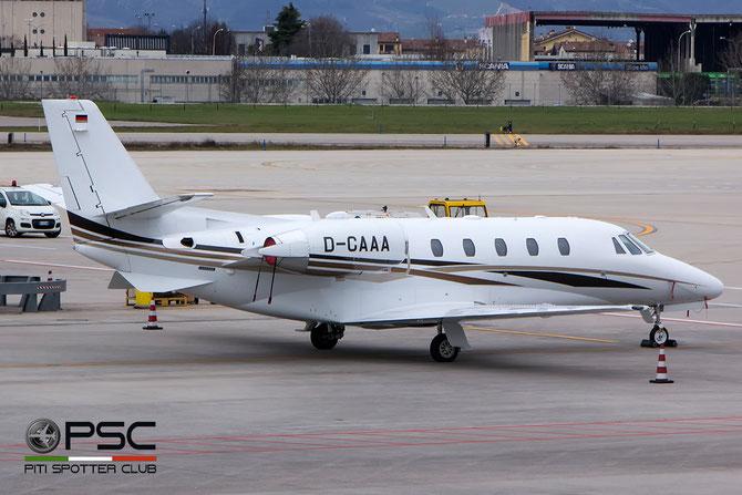 D-CAAA Ce560XLS+ 560-6123 DC Aviation @ Aeroporto di Verona - 2016 © Piti Spotter Club Verona