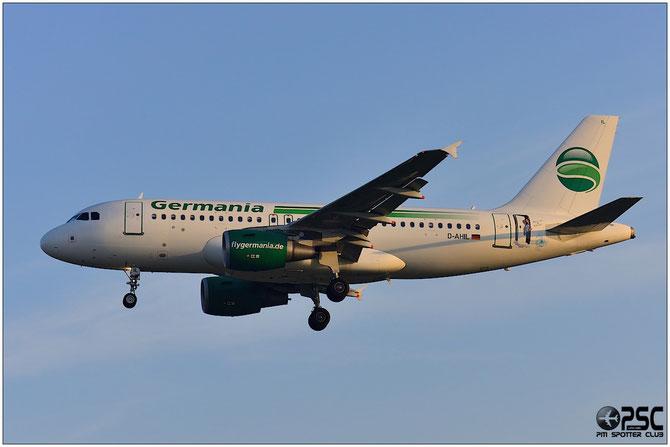 D-AHIL A319-112 3589 Germania Flug