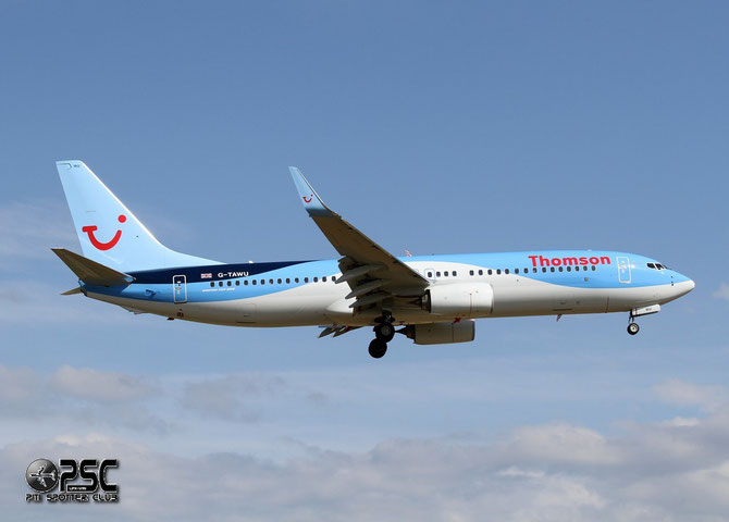 G-TAWU B737-8K5 37263/4875 Thomson Airways