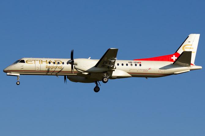 HB-IZH Saab 2000 2000-011 Darwin Airline 17may14 opf Etihad Regional