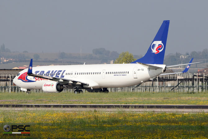 OK-TSI B737-9GJ 37363/3843 Travel Service @ Aeroporto di Verona - 2016 © Piti Spotter Club Verona