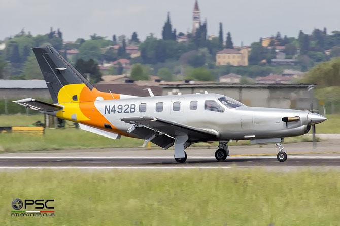 N492B TBM-850 455 2 B Airborne BV @ Aeroporto di Verona © Piti Spotter Club Verona