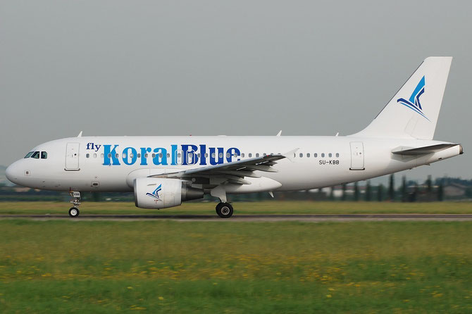 SU-KBB A319-112 3171 Koral Blue