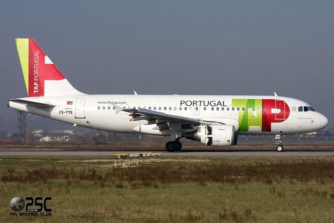 CS-TTE A319-111 821 TAP Portugal - Transportes Aéreos Portugueses @ Aeroporto di Verona © Piti Spotter Club Verona