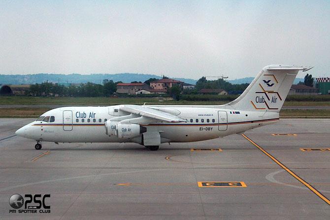 """il Bae 146-200 s/n 12 EI-DBY di Club Air, primo """"jumbolino"""" consegnato alla compagnia (ex G-DEFK)"""