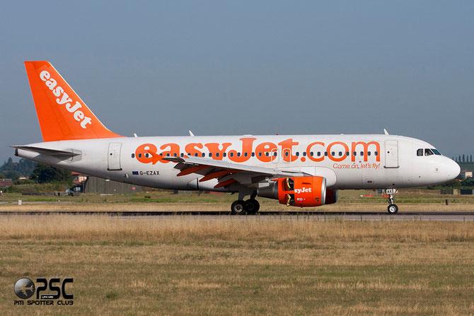 Airbus A319 - MSN 2818 - G-EZAX  Airline EasyJet @ Aeroporto di Verona © Piti Spotter Club Verona