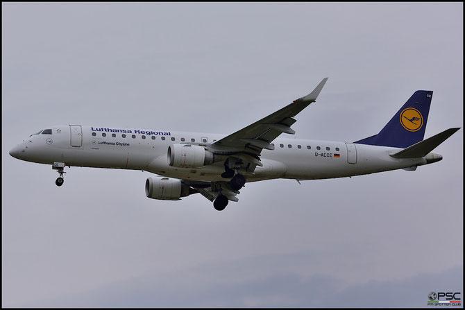 D-AECE ERJ190LR 19000341 Lufthansa CityLine @ Aeroporto di Verona © Piti Spotter Club Verona