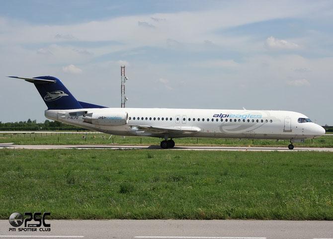 I-ALPQ Fokker 100 11256 Alpi Eagles