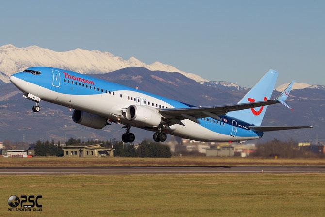 G-TAWB B737-8K5 (Scimitar Winglets) 37242/3917 Thomson Airways @ Aeroporto di Verona © Piti Spotter Club Verona