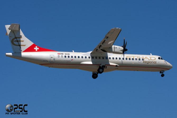 HB-ACD ATR72-212A 668 Darwin Airline 08jul14 opf Etihad Regional