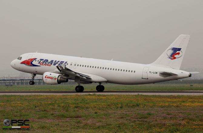 YL-LCM A320-211 244 Travel Service @ Aeroporto di Verona - 2016 © Piti Spotter Club Verona