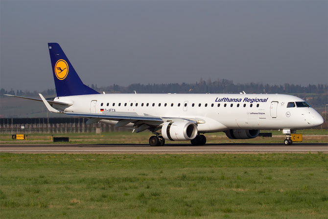 D-AECA ERJ190LR 19000327 Lufthansa CityLine @ Aeroporto di Verona © Piti Spotter Club Verona