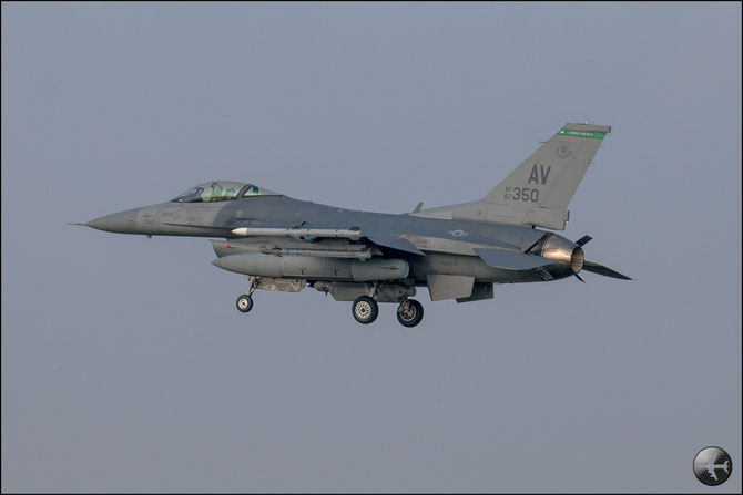 USAF - 87-0350 AV F-16CM-40-CF 1C-1 555th FS