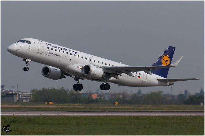 D-AECD ERJ190LR 19000337 Lufthansa CityLine @ Aeroporto di Verona © Piti Spotter Club Verona