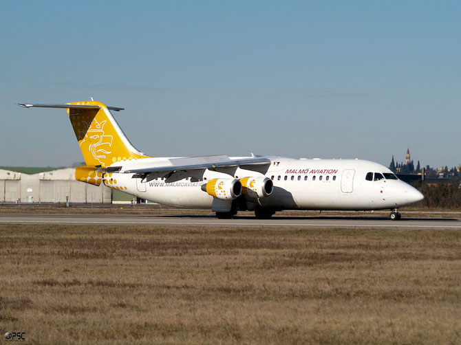 SE-DSV BAe146-RJ100 E3250 Malmö Aviation