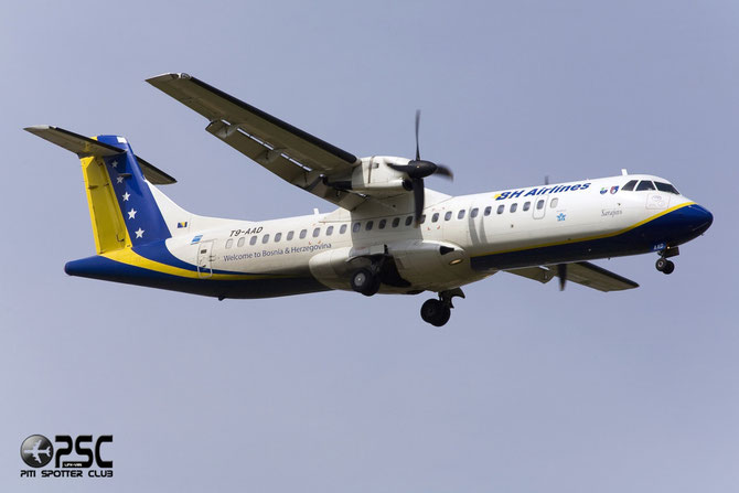 T9-AAD ATR72-212 464 B&H Airlines