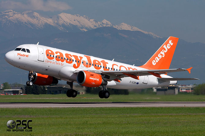 "Airbus A319 - MSN 3003 - G-EZBI  ""Madrid"" @ Aeroporto di Verona © Piti Spotter Club Verona"