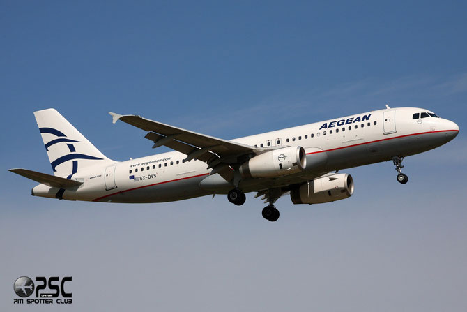 SX-DVS A320-232 3709 Aegean Airlines