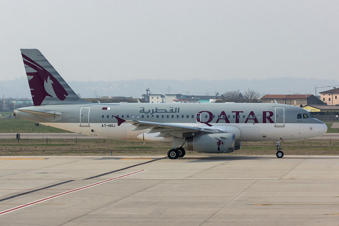 A7-HHJ A319-133 (ACJ) 1335 Government of Qatar - Qatar Airways Amiri Flight @ Aeroporto di Verona © Piti Spotter Club Verona