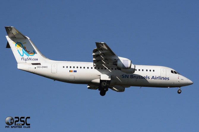 OO-DWC BAe146-RJ100 E3322 Brussels Airlines