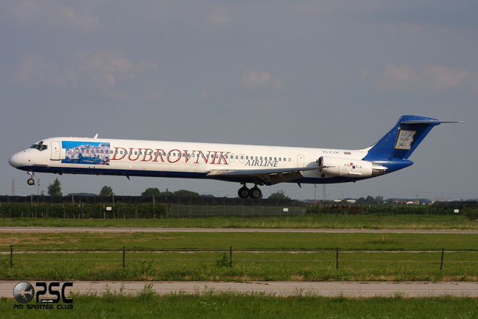 9A-CDC MD-82 49112/1068 Dubrovnik Airline