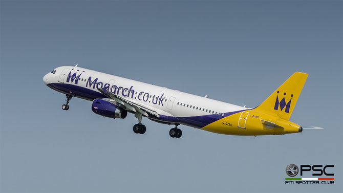 G-OZBE A321-231 1707 Monarch Airlines @ Aeroporto di Verona © Piti Spotter Club Verona (yellow tail)