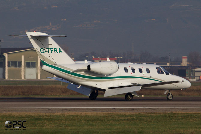 G-TFRA Ce525 (CJ1+) 525-0628 Blue Halkin Ltd. @ Aeroporto di Verona © Piti Spotter Club Verona