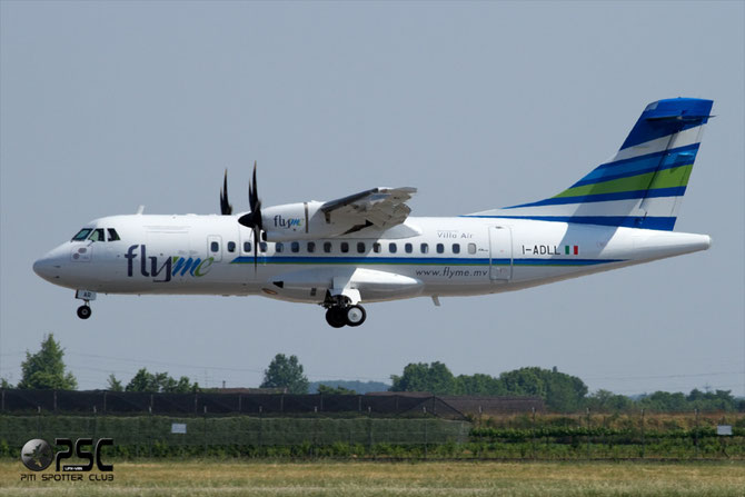 8Q-VAR ATR42-500 FlyMe Maldives jun11 (still in Air Dolomiti I-ADLL marks)