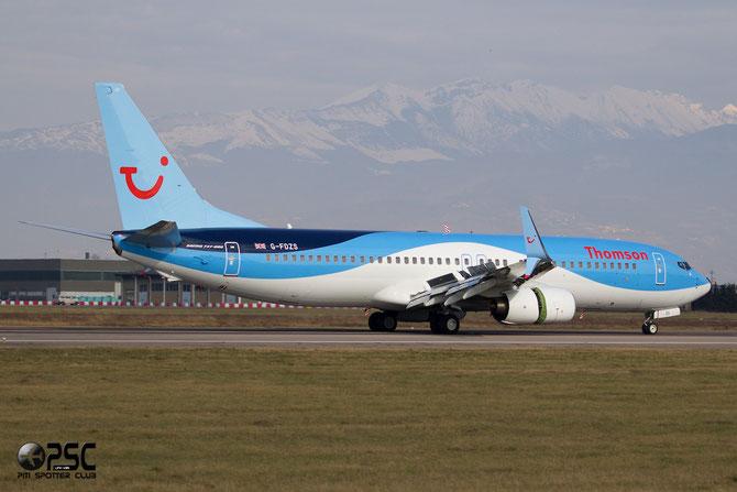 G-FDZS B737-8K5 (Scimitar) 35147/2866 Thomson Airways @ Aeroporto di Verona © Piti Spotter Club Verona