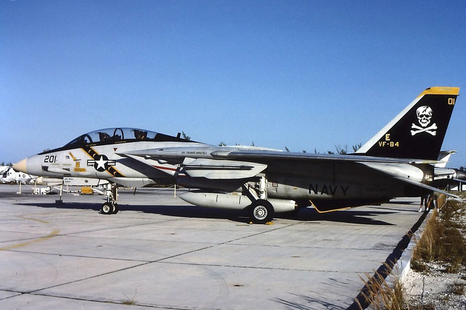 F-14A Tomcat BuNo.162692 AJ 201 of VF-84 'Jolly Rogers'