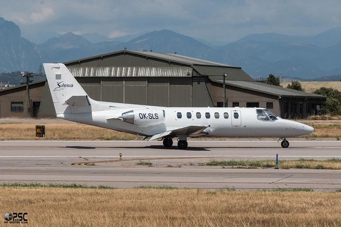 OK-SLS Ce560 560-0088 Silesia Air @ Aeroporto di Verona © Piti Spotter Club Verona