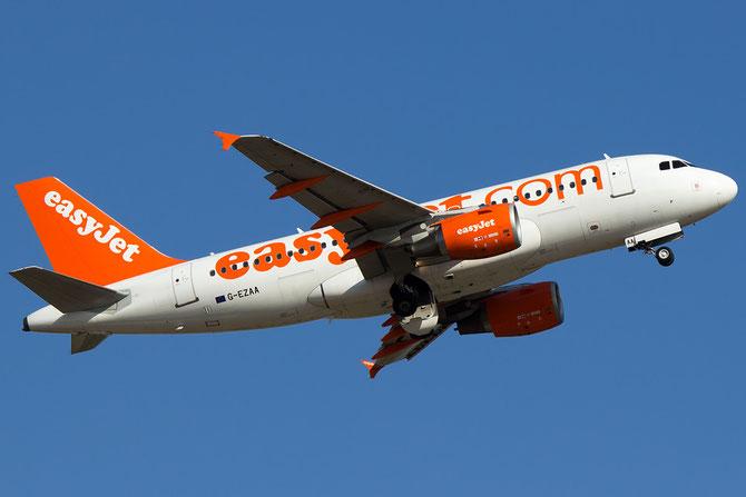 """G-EZAA A319-111 2677 EasyJet Airline (senza scritta """"Come On, Let's Fly) @ Aeroporto di Verona © Piti Spotter Club Verona"""