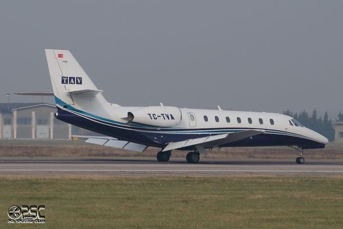 TC-TVA Ce680 680-0263 TAV Havacilik @ Aeroporto di Verona © Piti Spotter Club Verona