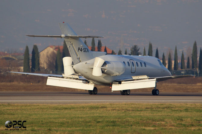 P4-SEN BAe125-800XP 258617 Daedalos Aviation @ Aeroporto di Verona © Piti Spotter Club Verona