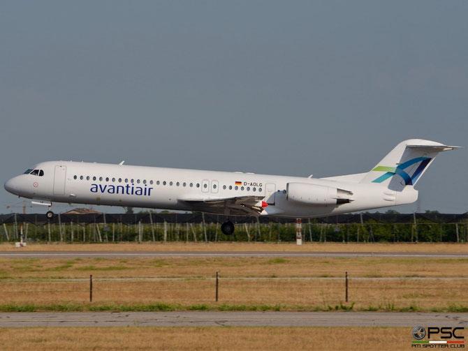 D-AOLG Fokker 100 11452 Avanti Air @ Aeroporto di Verona © Piti Spotter Club Verona