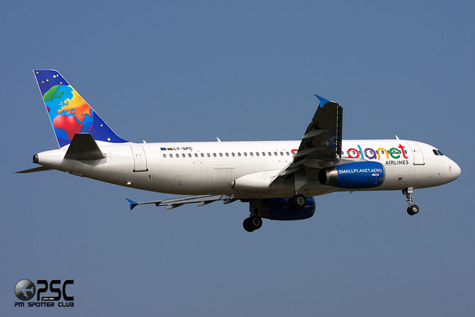 LY-SPC A320-231 415 Small Planet Airlines