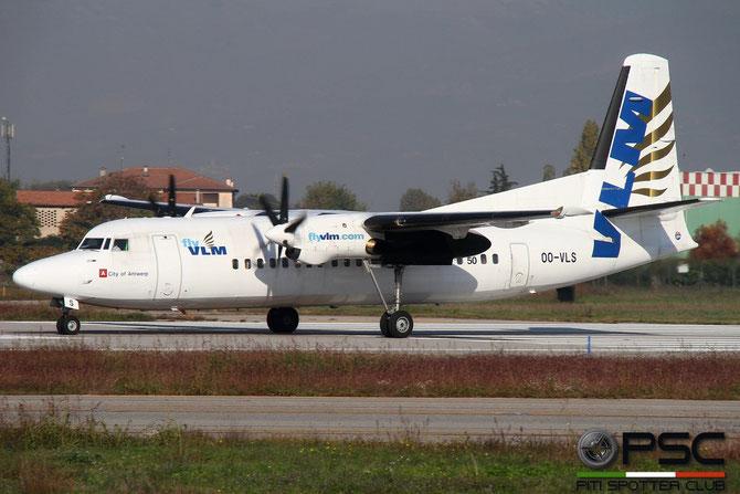 OO-VLS Fokker 50 20109 VLM Airlines - Vlaamse Luchttransport Maatschappij @ Aeroporto di Verona © Piti Spotter Club Verona