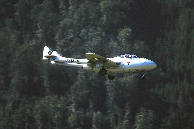 U-1208  Vampire T55 868 to HB-RVF