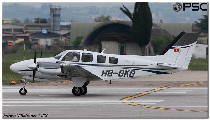 HB-GKG - Beech 58 Baron C/N TH- 2369 @ Aeroporto di Verona © Piti Spotter Club Verona