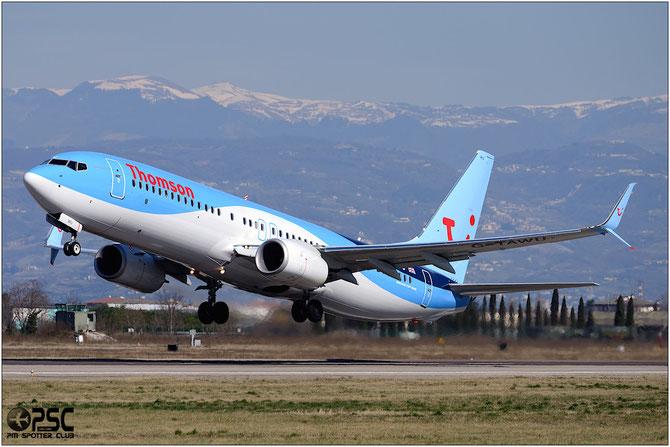 G-TAWU B737-8K5 (Scimitar) 37263/4875 Thomson Airways @ Aeroporto di Verona © Piti Spotter Club Verona