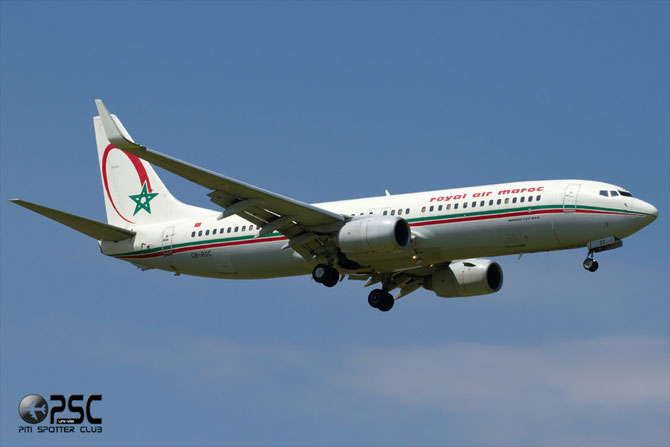 CN-ROC B737-8B6 33061/1661 Royal Air Maroc