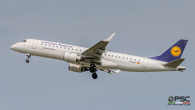 D-AECF ERJ190LR 19000359 Lufthansa CityLine @ Aeroporto di Verona © Piti Spotter Club Verona