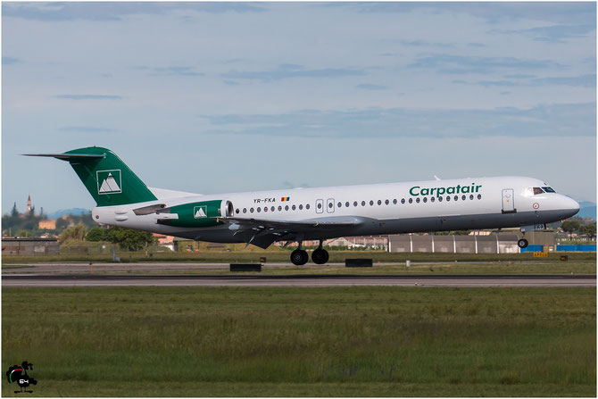 YR-FKA Fokker 100 11340 Carpatair @ Aeroporto di Verona © Piti Spotter Club Verona
