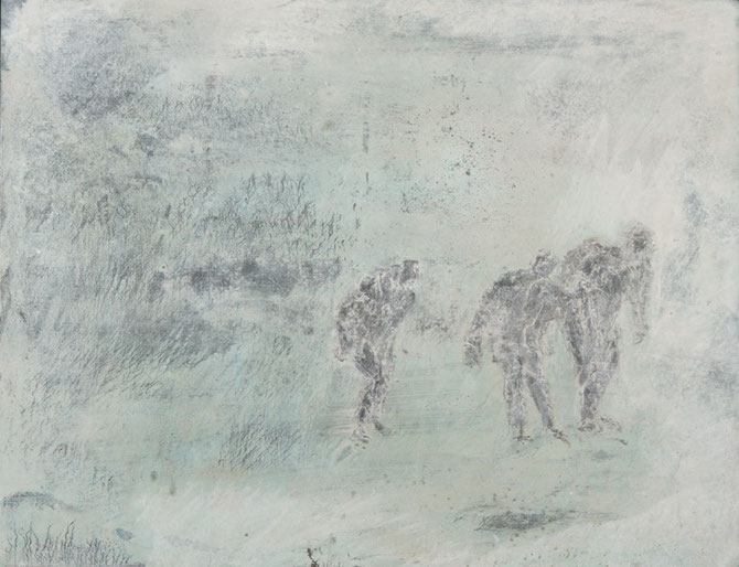 'SCHAATSERS' BRONS GEPATINEERD (58,5x46 cm) fotografie Bart Dertien