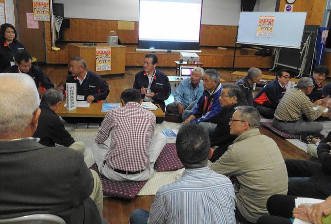 地域の課題が次々出された市民建産委員会のテーブル