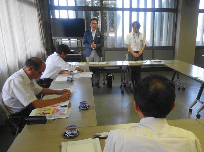 飯沼憲一課長(向かって左)と安藤雅俊係長